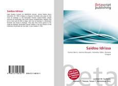Saidou Idrissa kitap kapağı
