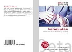 Capa do livro de Paa Kwesi Nduom