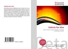 Capa do livro de Vehicle for Hire