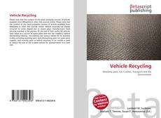 Bookcover of Vehicle Recycling