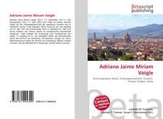Copertina di Adriano Jaime Miriam Veigle