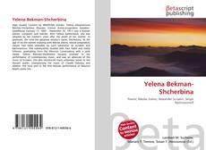 Yelena Bekman-Shcherbina kitap kapağı