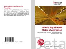 Bookcover of Vehicle Registration Plates of Azerbaijan