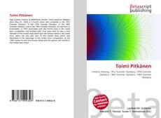 Bookcover of Toimi Pitkänen