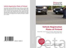 Обложка Vehicle Registration Plates of Finland