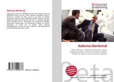 Bookcover of Adorno-Denkmal