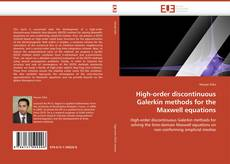 Bookcover of High-order discontinuous Galerkin methods for the Maxwell equations