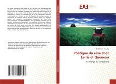 Bookcover of Poétique du rêve chez Leiris et Queneau