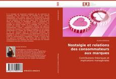 Portada del libro de Nostalgie et relations des consommateurs aux marques