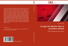 Capa do livro de Le juge des libertés dans la procédure pénale