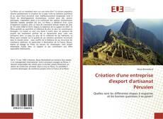 Couverture de Création d'une entreprise d'export d'artisanat Péruvien