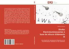 Bookcover of Diodes Electroluminescentes à base de nitrure d'éléments III