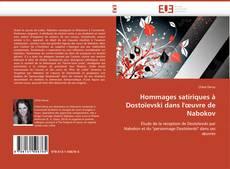 Buchcover von Hommages satiriques à Dostoïevski dans l'œuvre de Nabokov