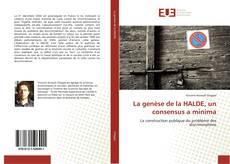 Portada del libro de La genèse de la HALDE, un consensus a minima