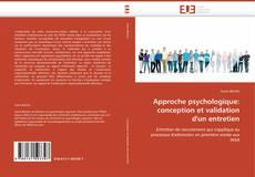Borítókép a  Approche psychologique: conception et validation d'un entretien - hoz