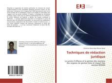 Bookcover of Techniques de rédaction juridique