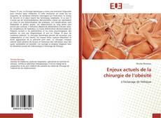 Enjeux actuels de la chirurgie de l'obésité kitap kapağı