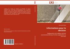 Copertina di Informations pour la décision