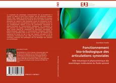 Buchcover von Fonctionnement bio-tribologique des articulations synoviales