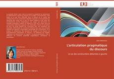 Обложка L'articulation pragmatique du discours