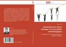 Couverture de Investissement direct étranger et externalités technologiques
