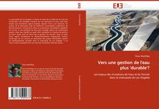 Обложка Vers une gestion de l''eau plus ''durable''?
