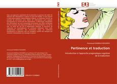 Pertinence et traduction kitap kapağı