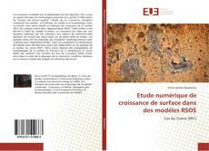 Etude numérique de croissance de surface dans des modèles RSOS kitap kapağı