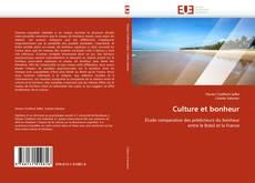 Buchcover von Culture et bonheur