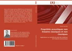 Обложка Propriétés acoustiques non linéaires classiques et non classiques