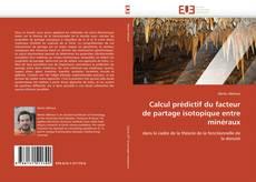 Couverture de Calcul prédictif du facteur de partage isotopique entre minéraux
