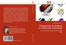 Bookcover of Changements de dirigeant et richesse des actionnaires