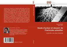 Mode d'action et devenir de l'herbicide aclonifen kitap kapağı