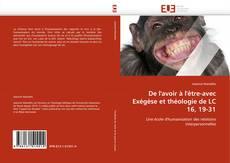 Capa do livro de De l'avoir à l'être-avec Exégèse et théologie de LC 16, 19-31