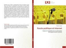 Couverture de Parole publique et Internet