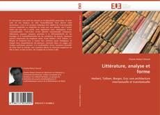 Littérature, analyse et forme的封面