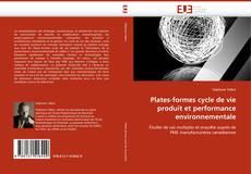 Couverture de Plates-formes cycle de vie produit et performance environnementale