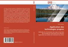 Capa do livro de Application des technologies propres