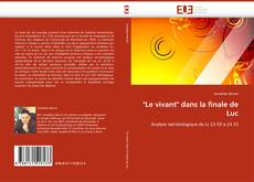 """Capa do livro de """"Le vivant"""" dans la finale de Luc"""
