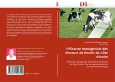 Capa do livro de Efficacité managériale des éleveurs de bovins de Côte d'Ivoire