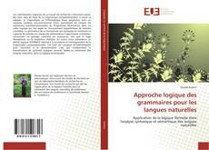 Couverture de Approche logique des grammaires pour les langues naturelles