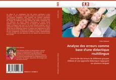 Bookcover of Analyse des erreurs comme base d''une didactique multilingue