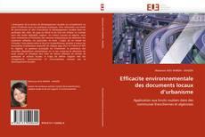 Copertina di Efficacite environnementale des documents locaux d''urbanisme
