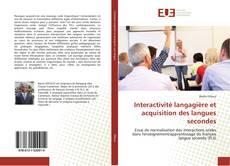 Couverture de Interactivité langagière et acquisition des langues secondes