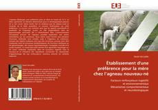 Copertina di Établissement d''une préférence pour la mère chez l''agneau nouveau-né