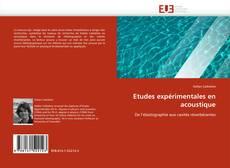 Etudes expérimentales en acoustique的封面
