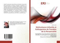 Portada del libro de Maltraitance Infantile et Pathogenèse de Troubles de la Personnalité