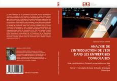 Bookcover of ANALYSE DE L''INTRODUCTION DE L''EDI DANS LES ENTREPRISES CONGOLAISES
