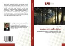 Capa do livro de Les énoncés définitoires