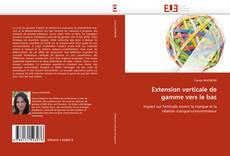 Buchcover von Extension verticale de gamme vers le bas